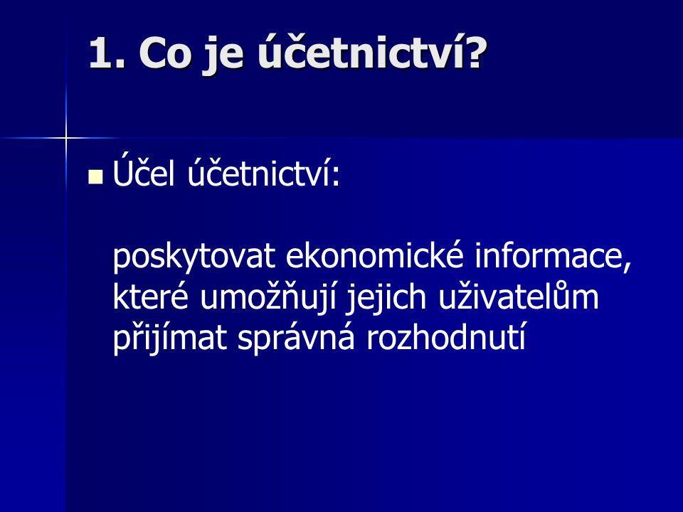 1. Co je účetnictví.