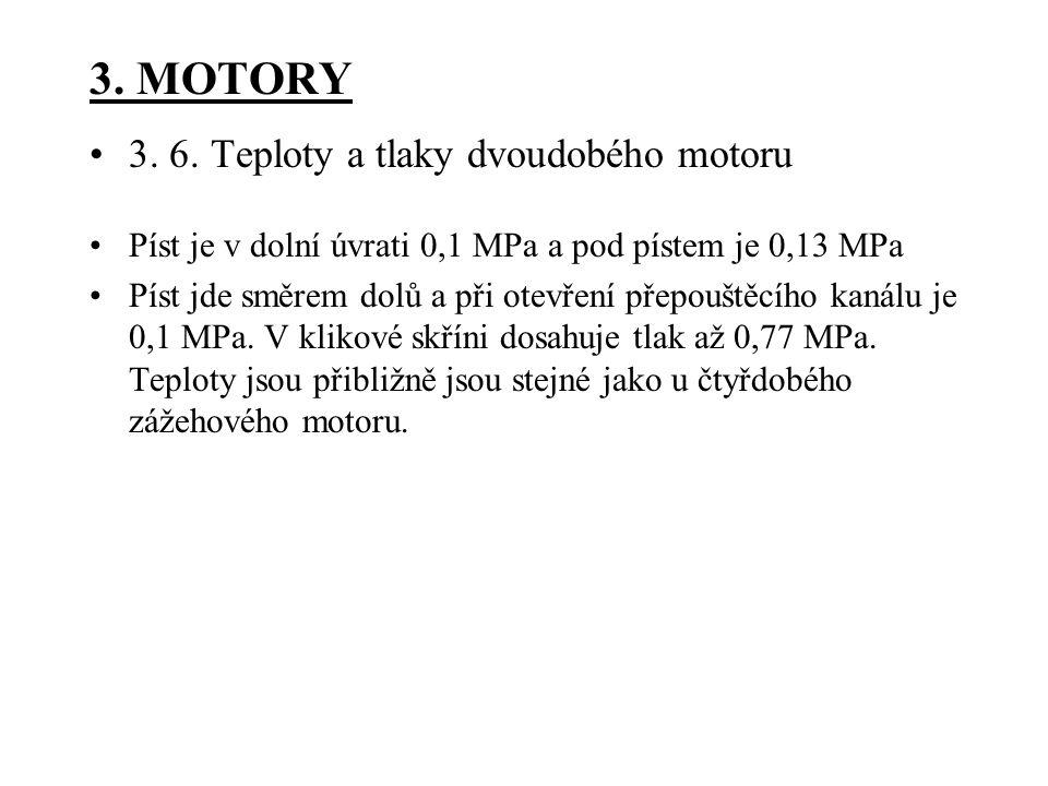 3. MOTORY 3. 6. Teploty a tlaky dvoudobého motoru