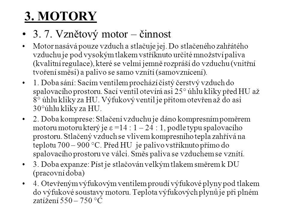 3. MOTORY 3. 7. Vznětový motor – činnost