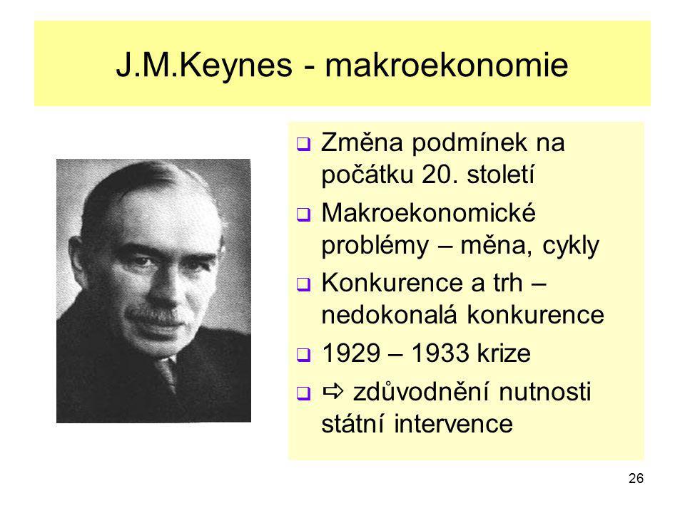J.M.Keynes - makroekonomie