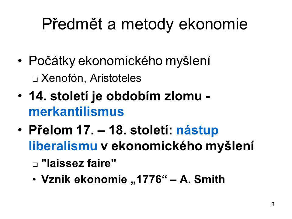 Předmět a metody ekonomie