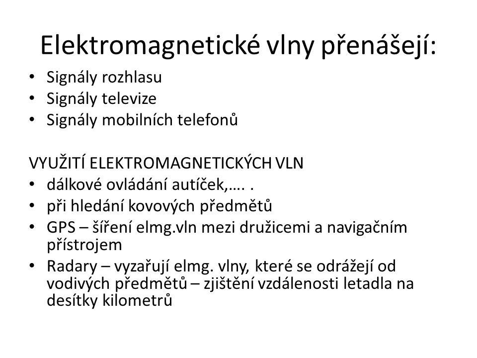 Elektromagnetické vlny přenášejí: