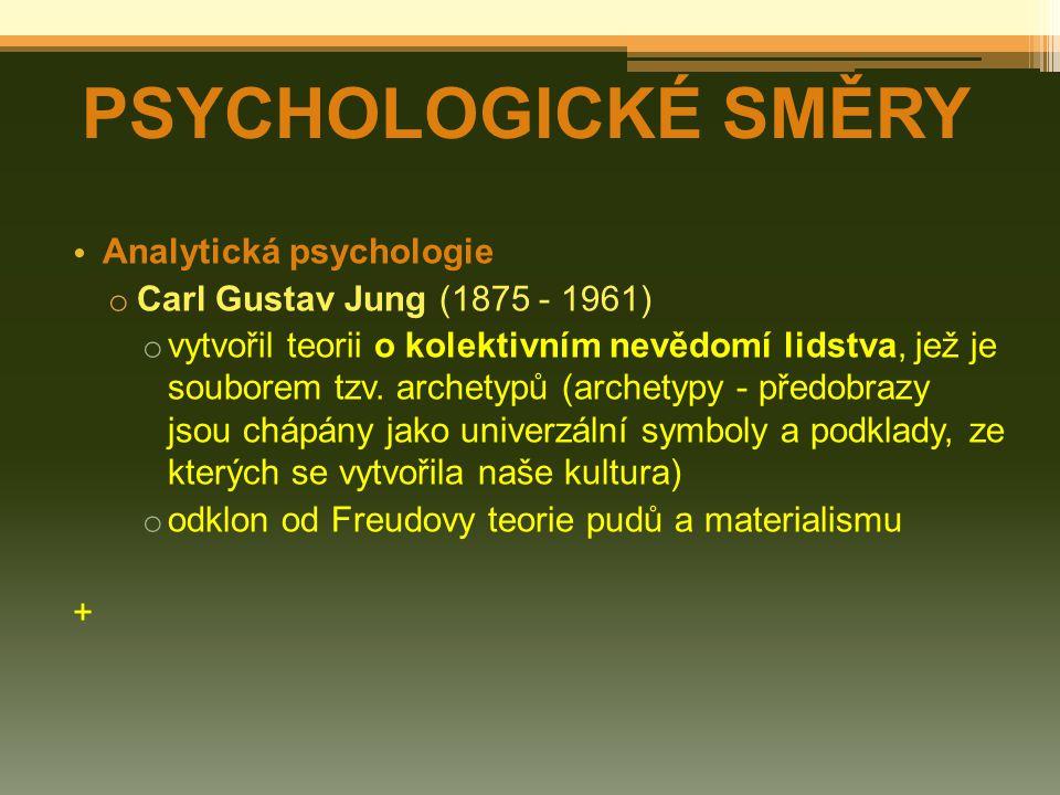 PSYCHOLOGICKÉ SMĚRY Analytická psychologie