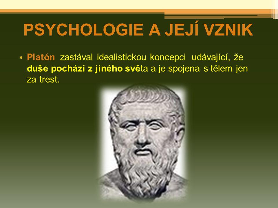 PSYCHOLOGIE A JEJÍ VZNIK