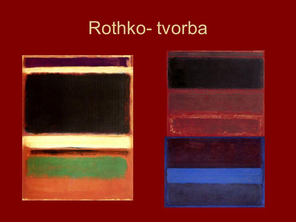 Rothko- tvorba