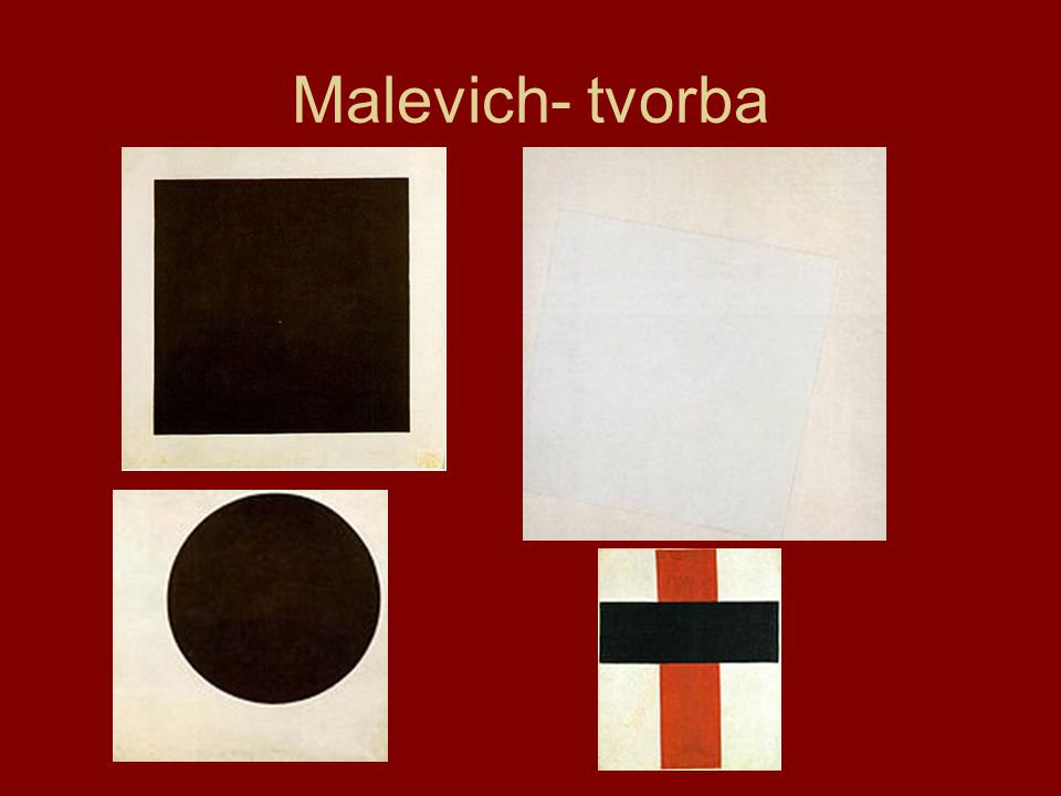 Malevich- tvorba