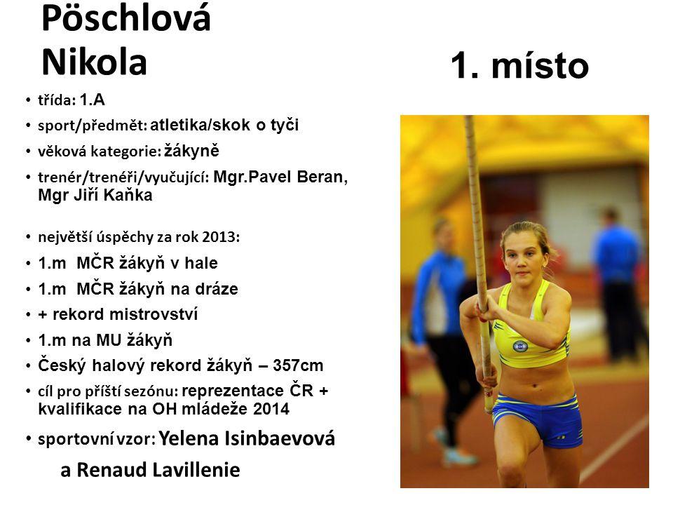 Pöschlová Nikola 1. místo a Renaud Lavillenie