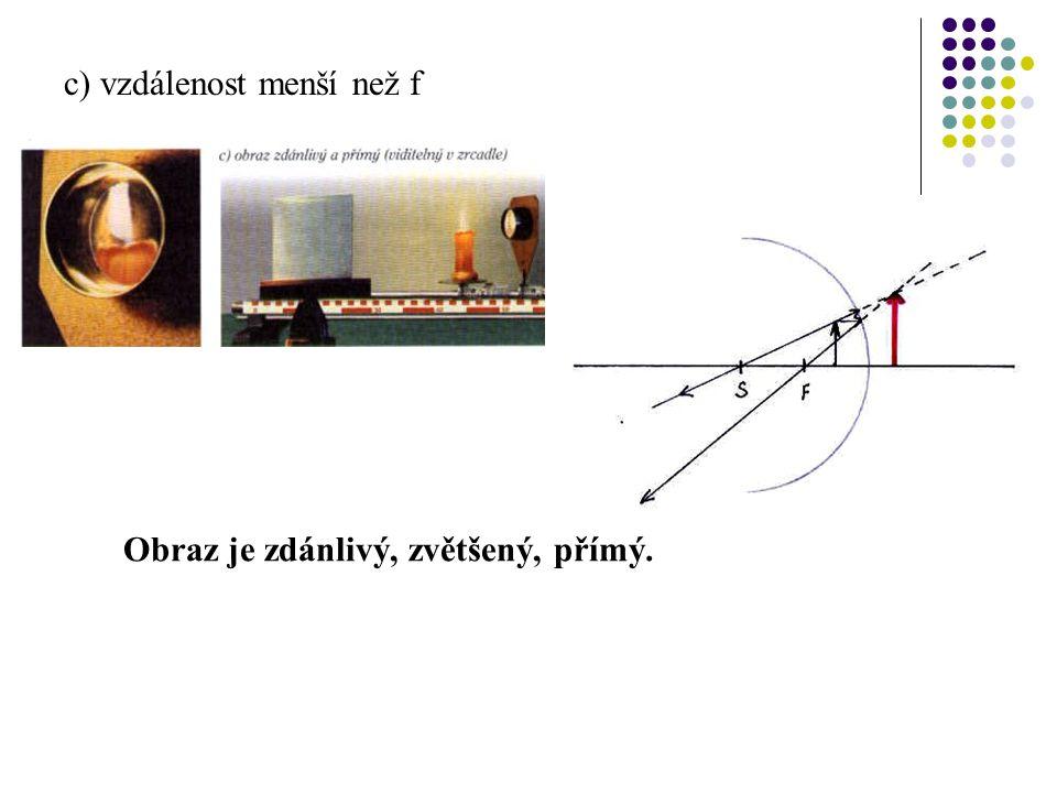 c) vzdálenost menší než f