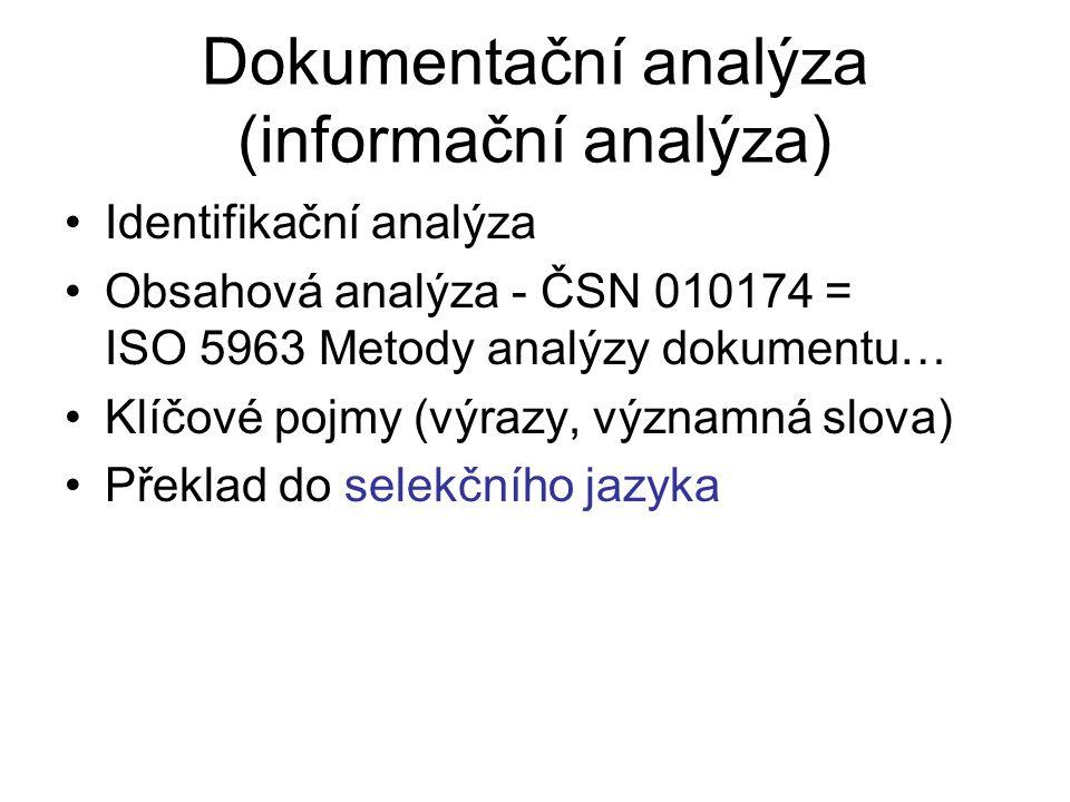 Dokumentační analýza (informační analýza)