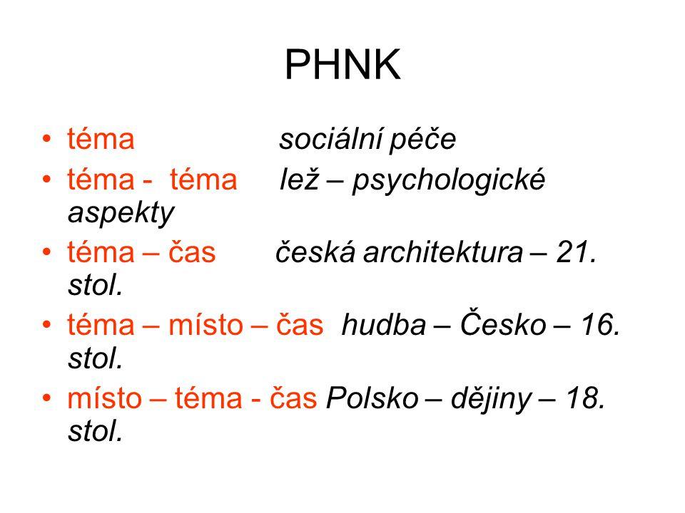 PHNK téma sociální péče téma - téma lež – psychologické aspekty