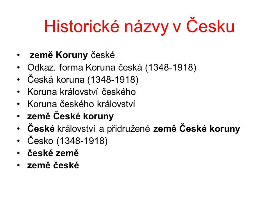 Historické názvy v Česku