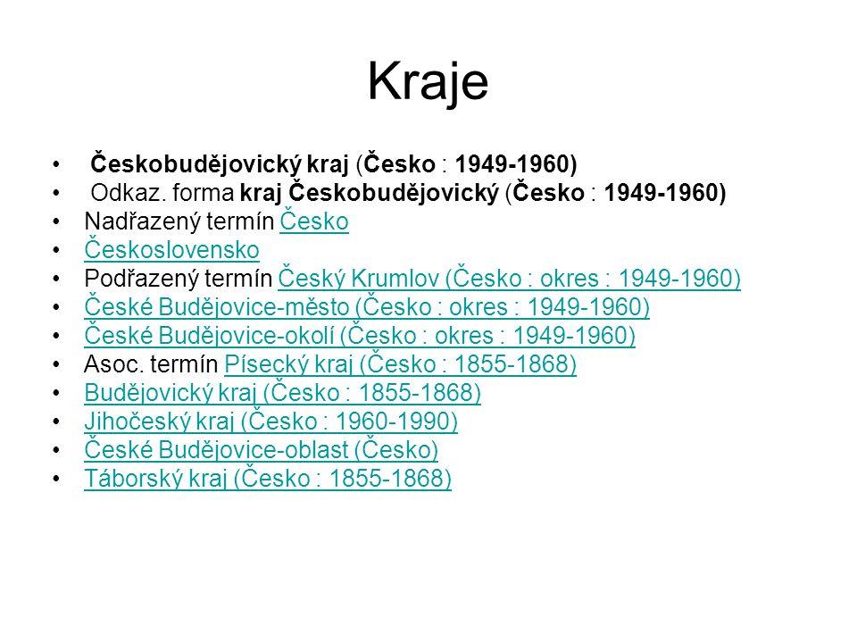 Kraje Českobudějovický kraj (Česko : 1949-1960)