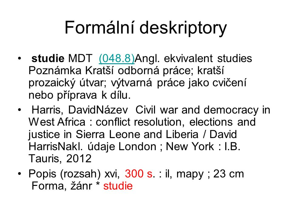 Formální deskriptory