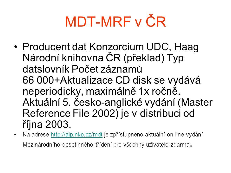 MDT-MRF v ČR