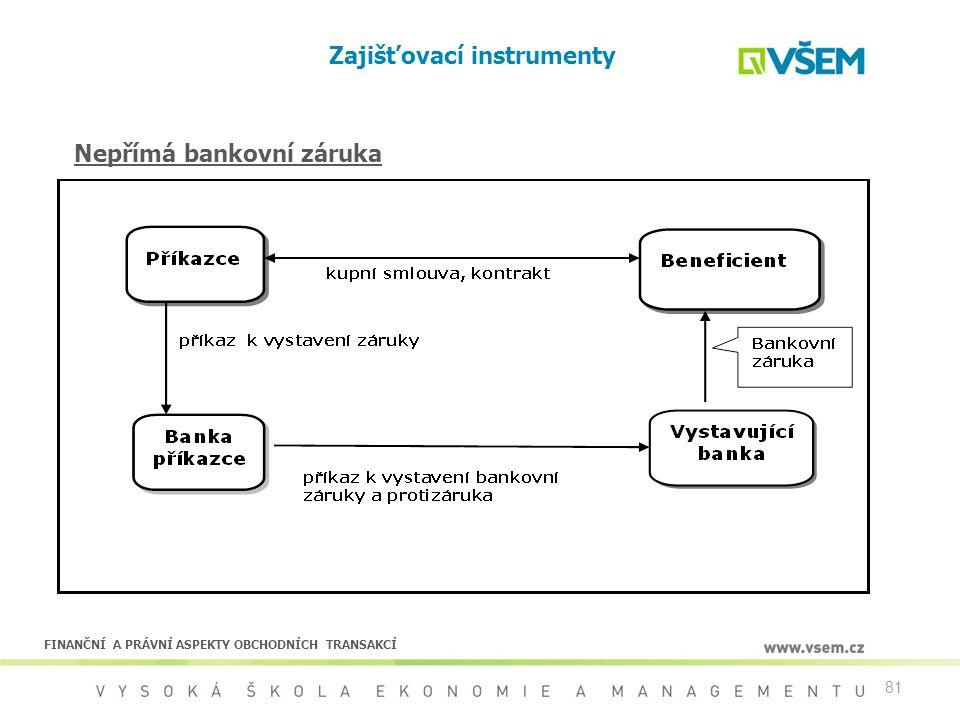Zajišťovací instrumenty