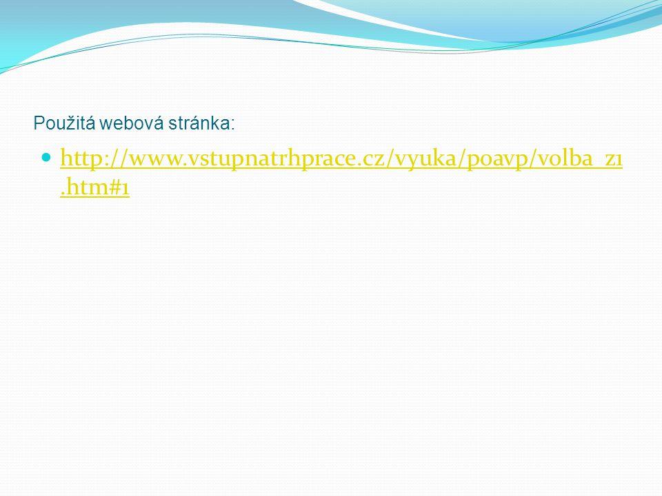 Použitá webová stránka: