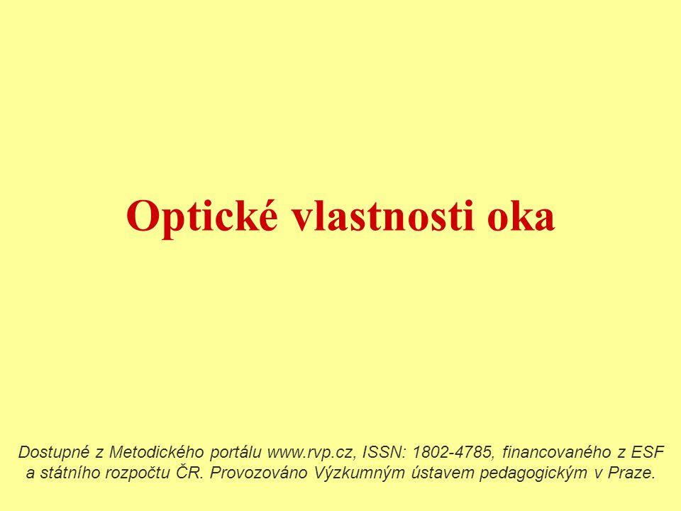 Optické vlastnosti oka