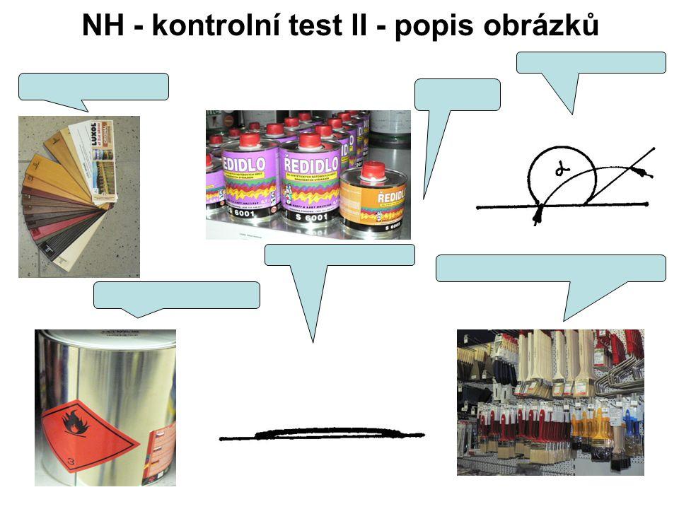 NH - kontrolní test II - popis obrázků