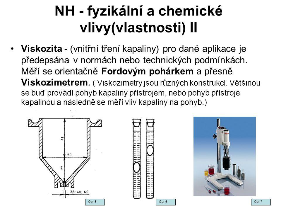 NH - fyzikální a chemické vlivy(vlastnosti) II
