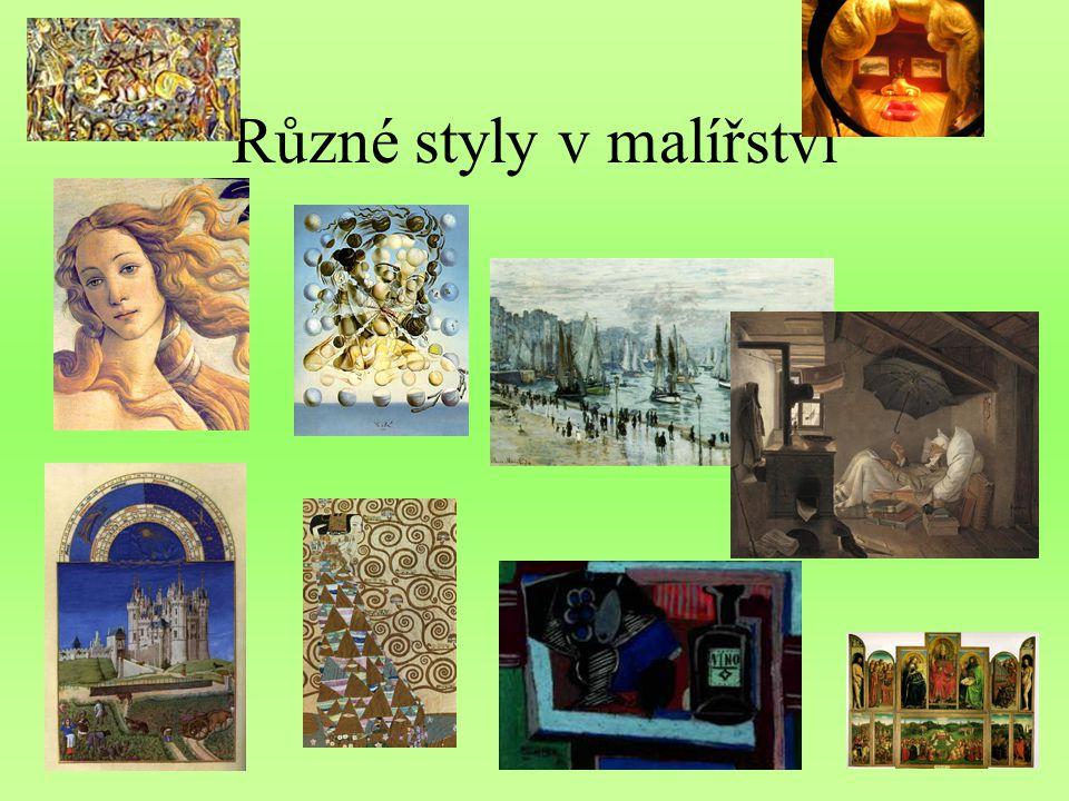 Různé styly v malířství
