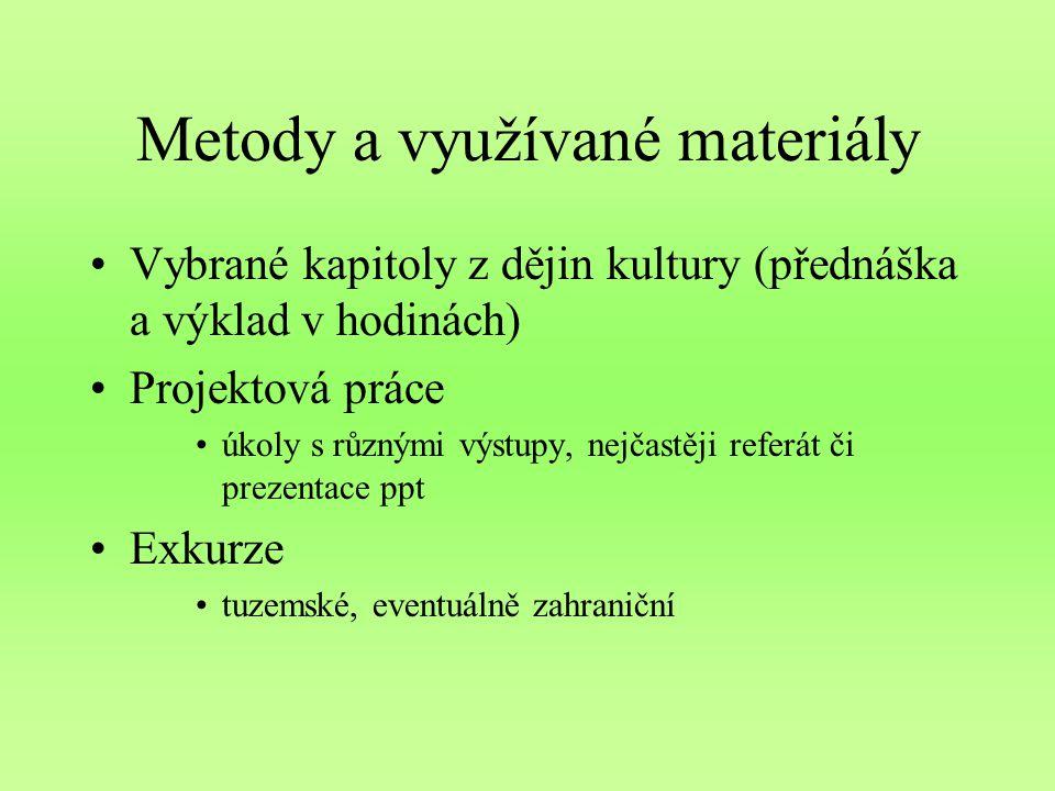 Metody a využívané materiály