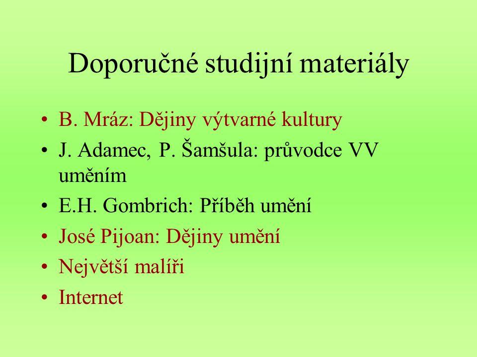 Doporučné studijní materiály