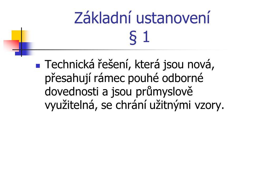 Základní ustanovení § 1