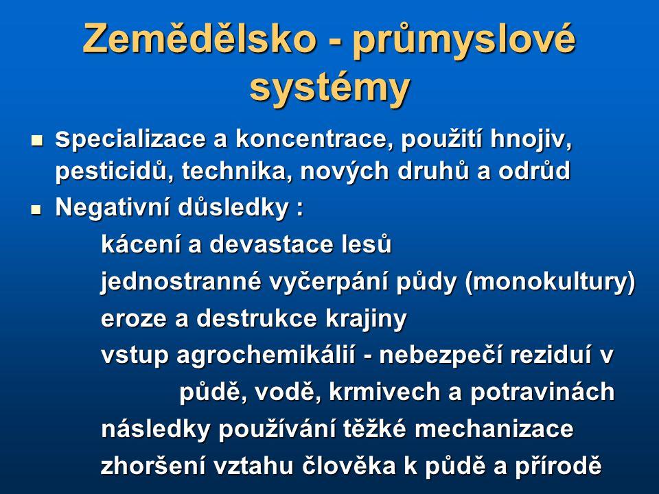Zemědělsko - průmyslové systémy