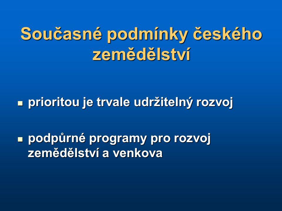 Současné podmínky českého zemědělství