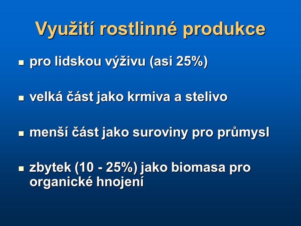 Využití rostlinné produkce