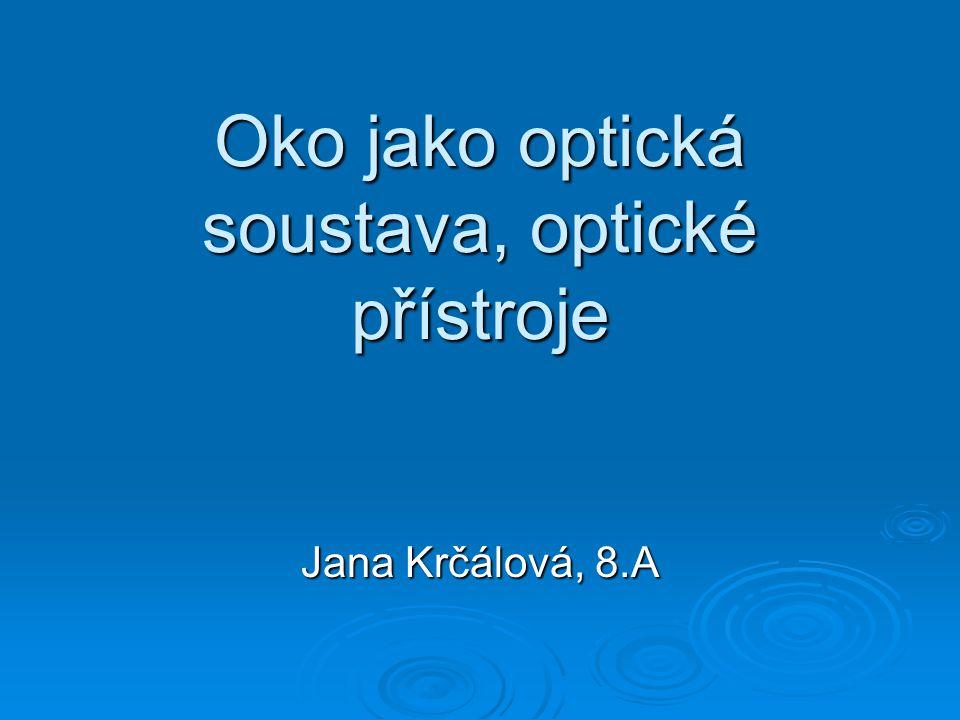 Oko jako optická soustava, optické přístroje