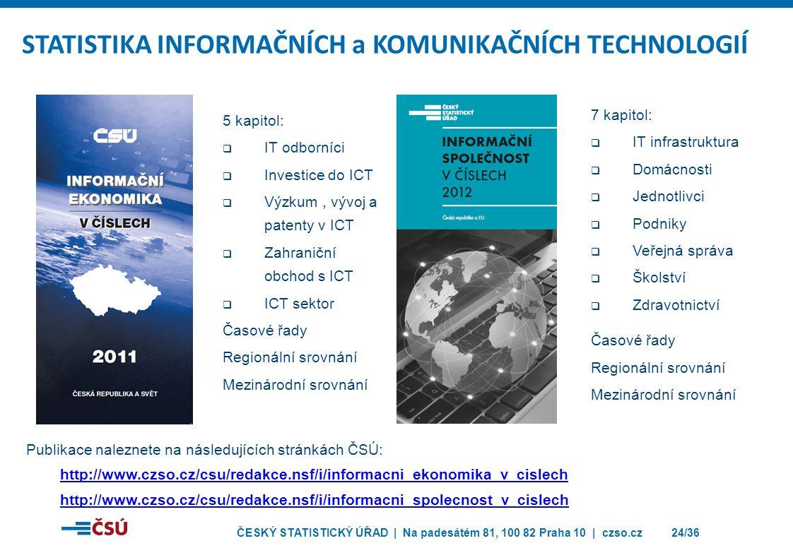 STATISTIKA INFORMAČNÍCH a KOMUNIKAČNÍCH TECHNOLOGIÍ