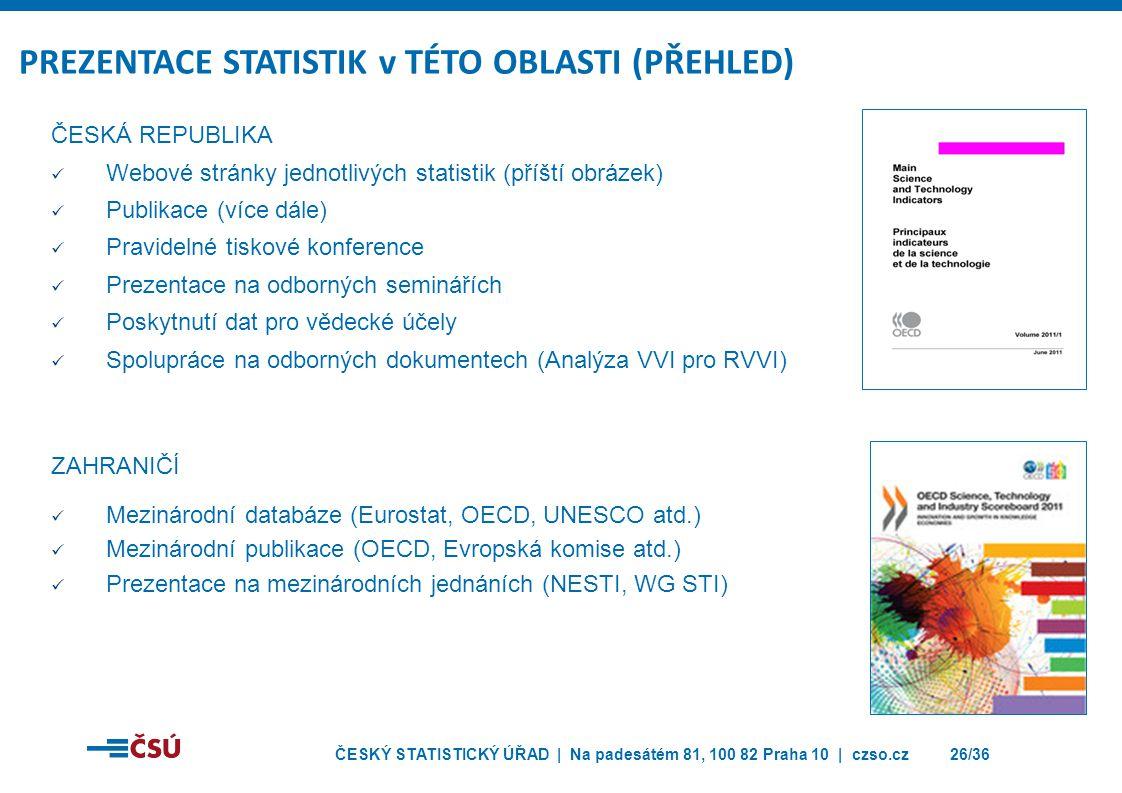 PREZENTACE STATISTIK v TÉTO OBLASTI (PŘEHLED)
