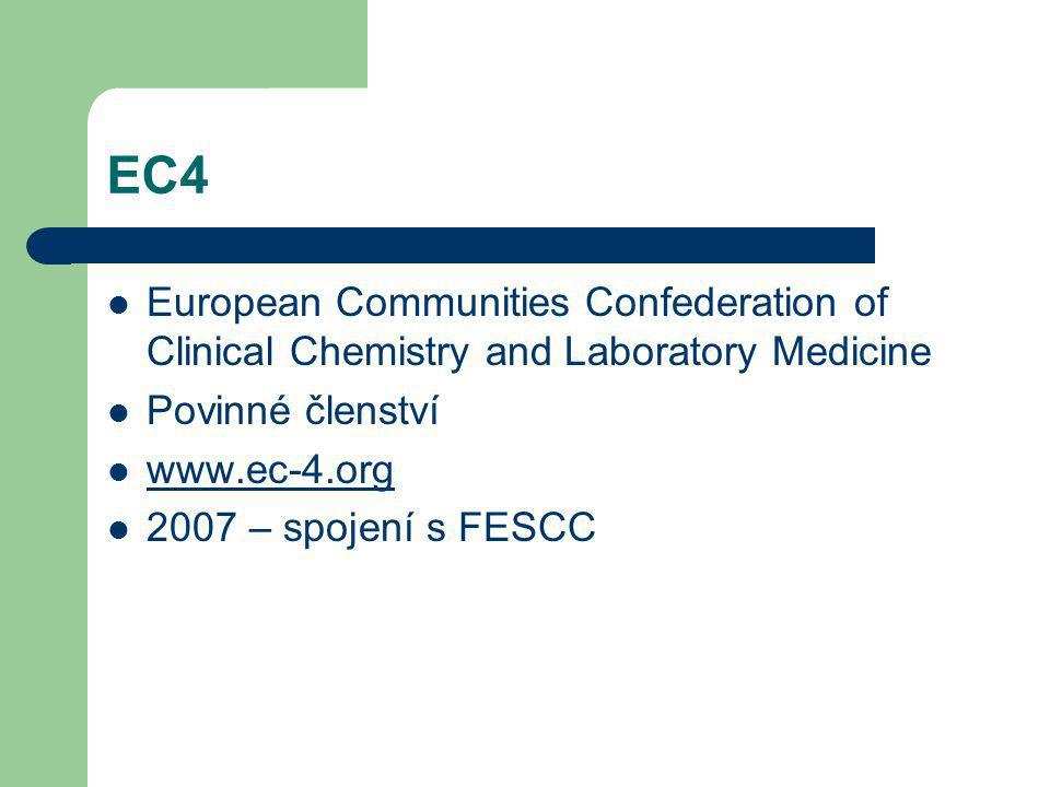 EC4 European Communities Confederation of Clinical Chemistry and Laboratory Medicine. Povinné členství.