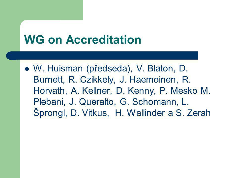 WG on Accreditation