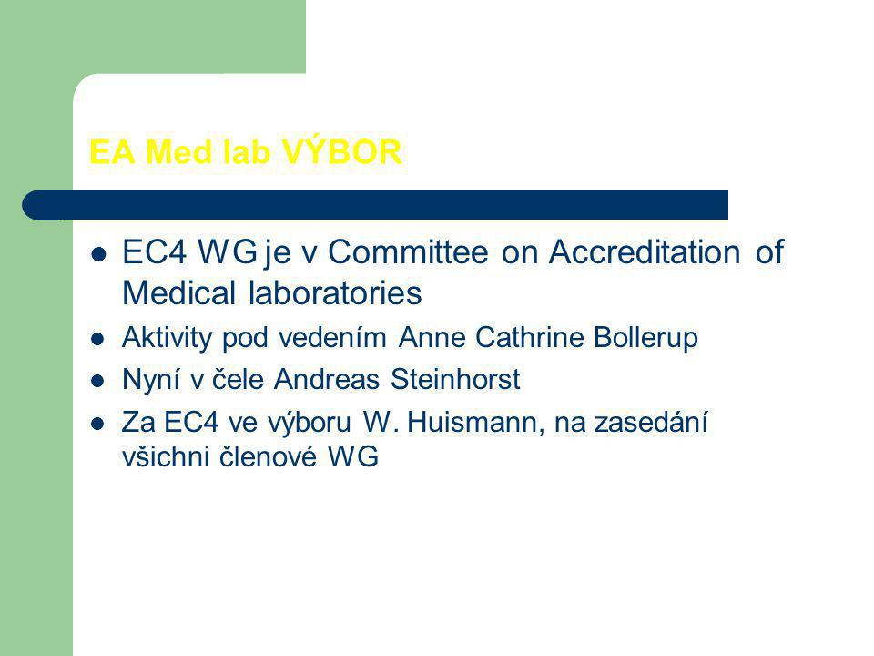EC4 WG je v Committee on Accreditation of Medical laboratories