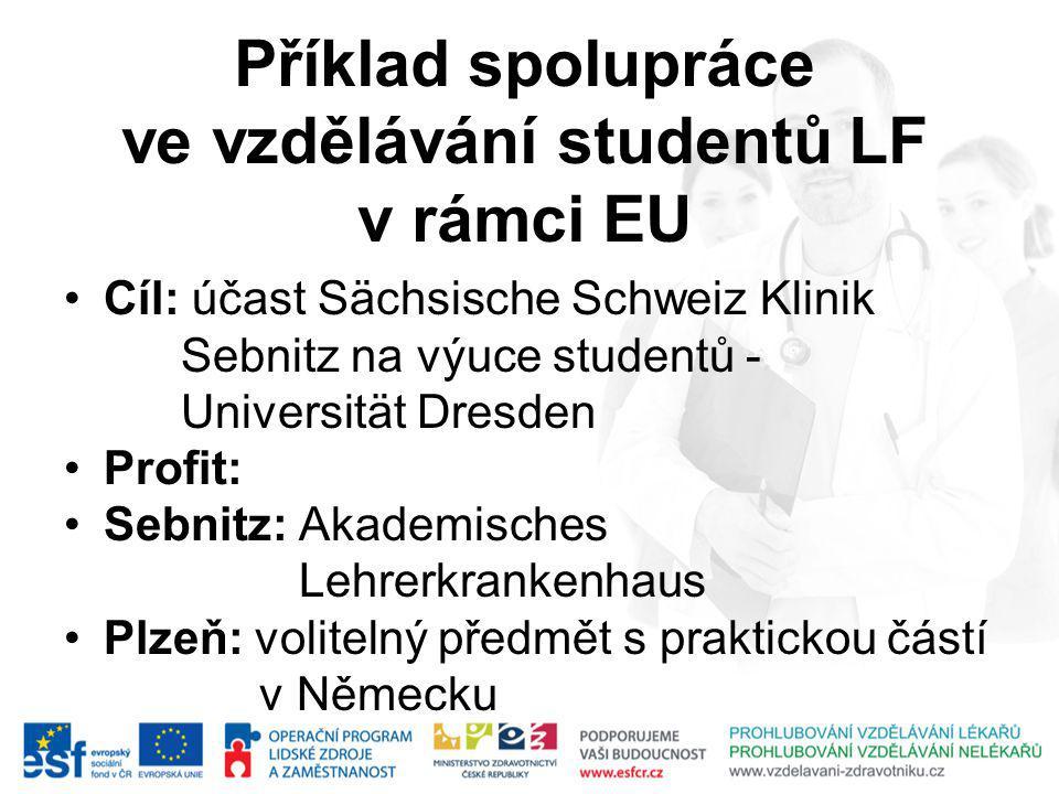 Příklad spolupráce ve vzdělávání studentů LF v rámci EU