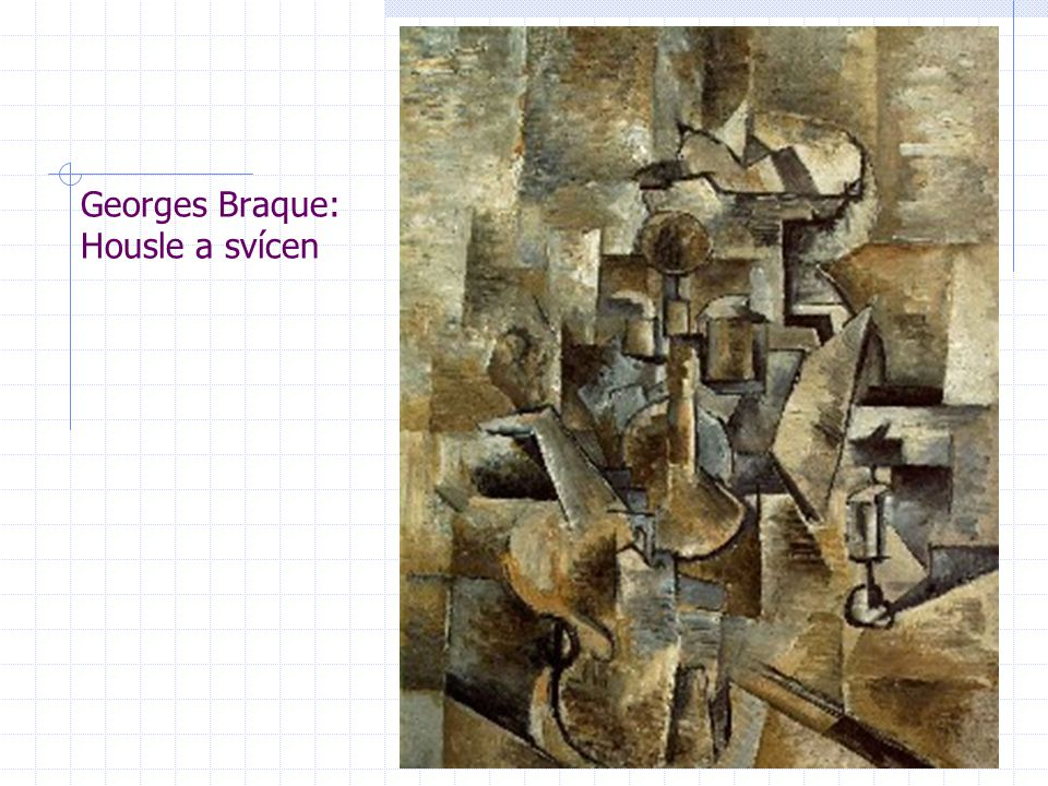 Georges Braque: Housle a svícen
