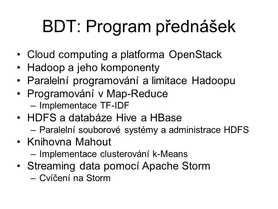 BDT: Program přednášek