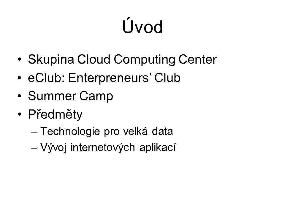 Úvod Skupina Cloud Computing Center eClub: Enterpreneurs' Club