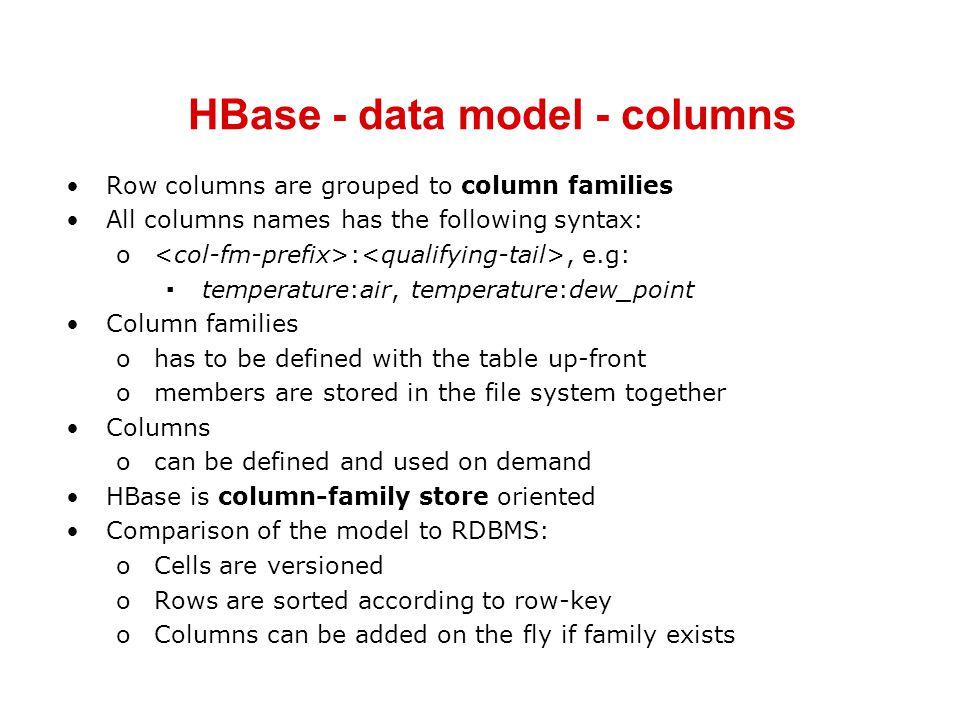 HBase - data model - columns