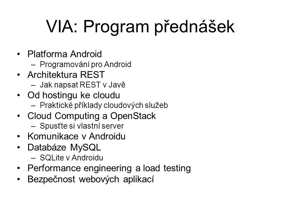 VIA: Program přednášek