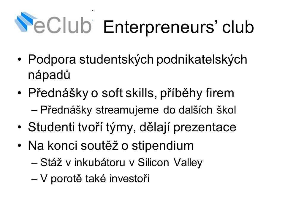 Enterpreneurs' club Podpora studentských podnikatelských nápadů