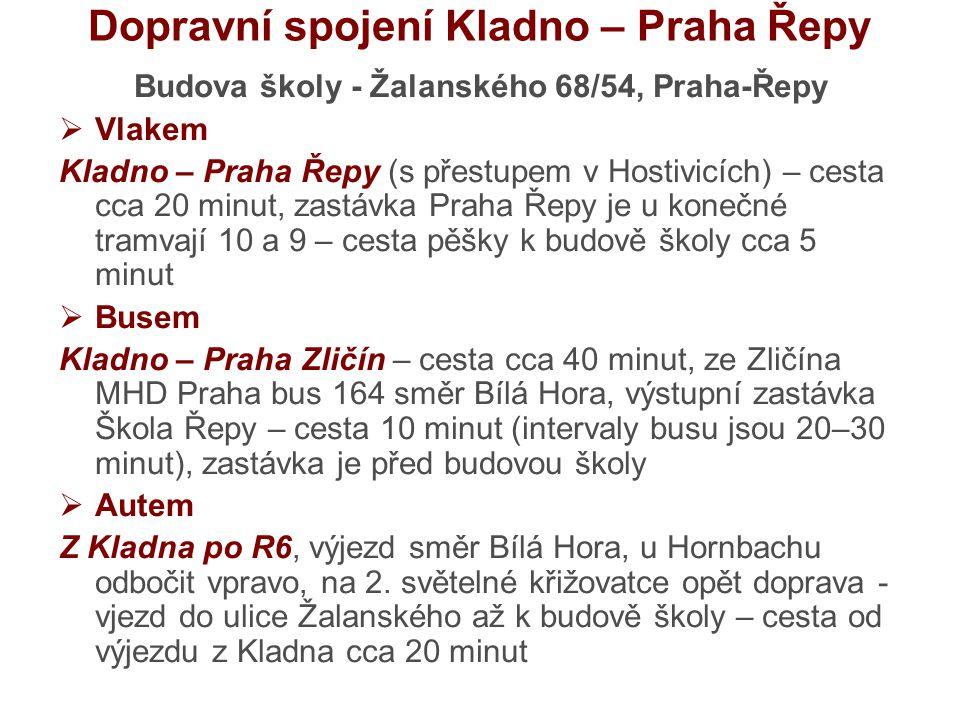Dopravní spojení Kladno – Praha Řepy