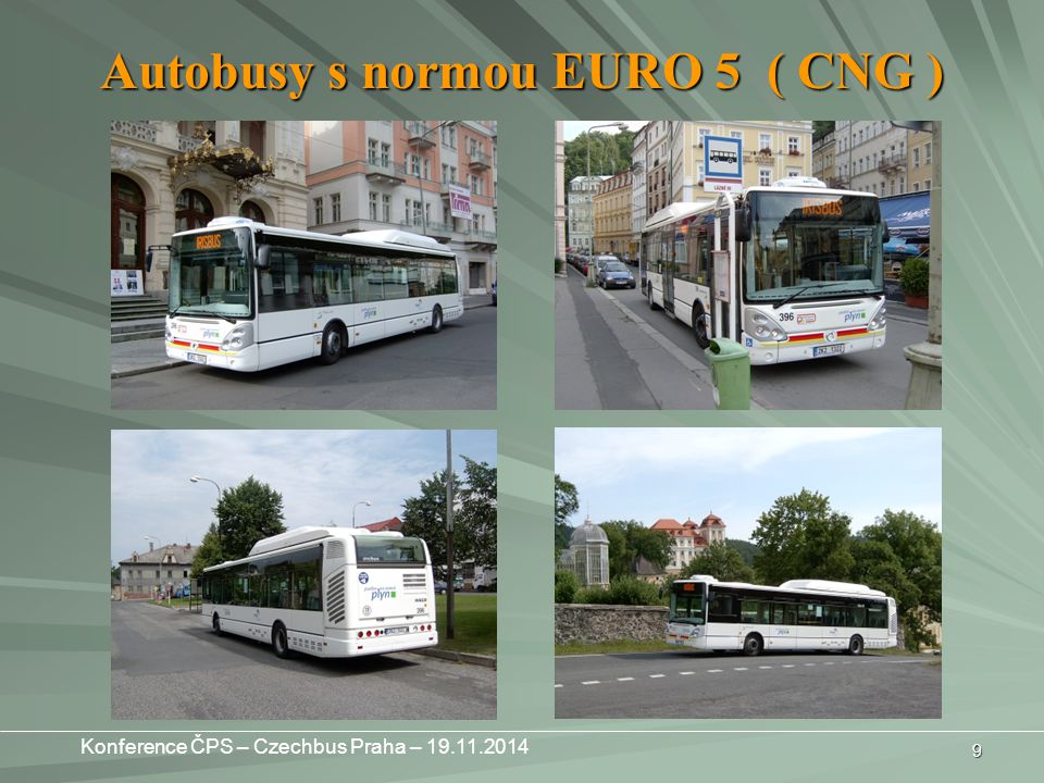 Autobusy s normou EURO 5 ( CNG )