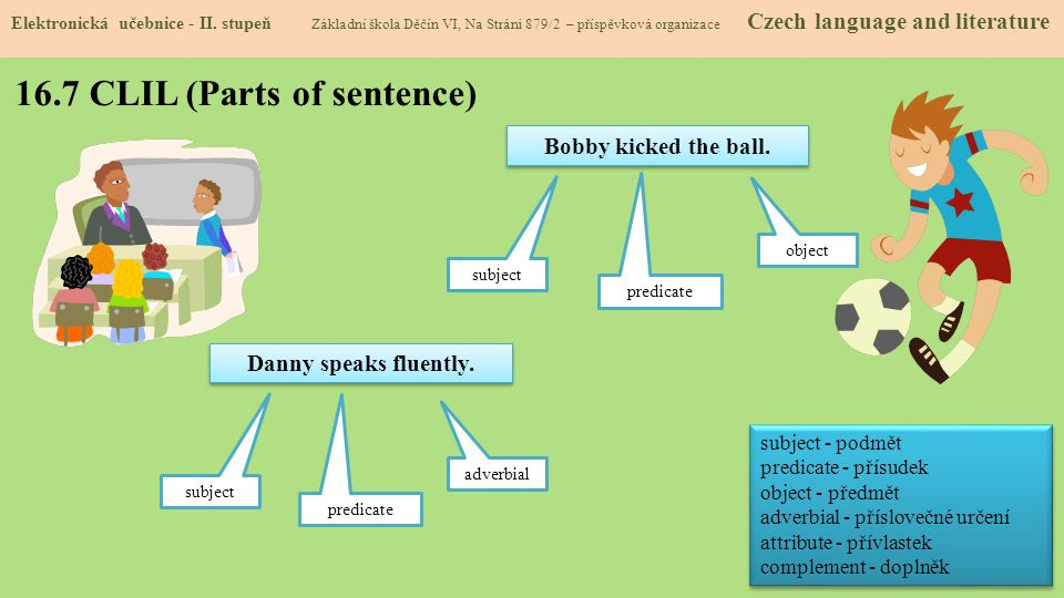 16.7 CLIL (Parts of sentence)