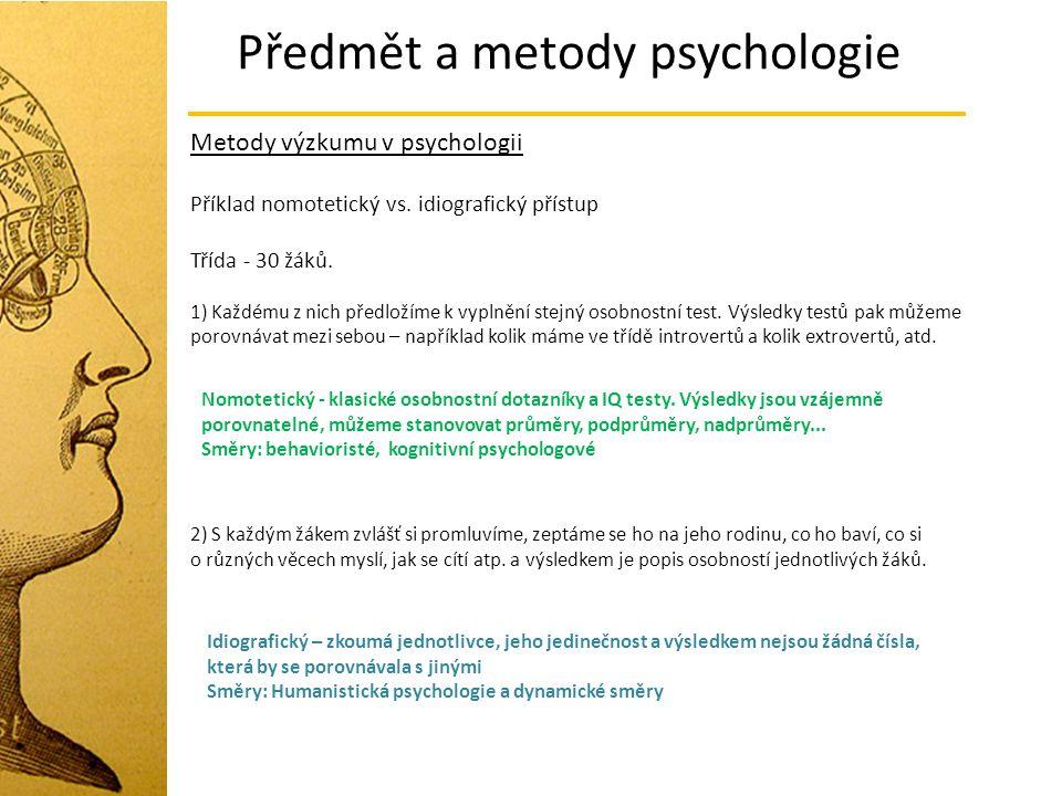 Předmět a metody psychologie