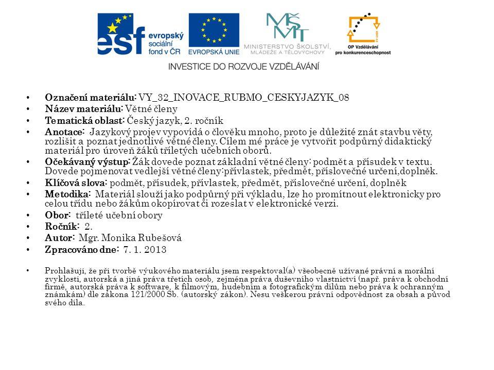 Označení materiálu: VY_32_INOVACE_RUBMO_CESKYJAZYK_08