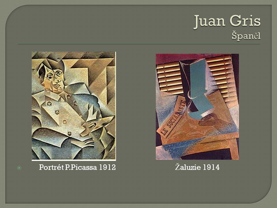 Juan Gris Španěl Portrét P.Picassa 1912 Žaluzie 1914