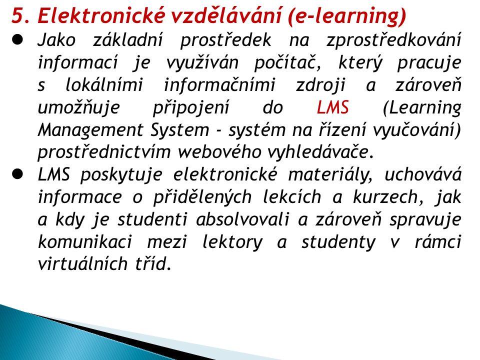 Elektronické vzdělávání (e-learning)